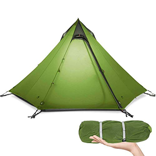 CHHD Tent for Camping Camping Tent, Ultralight Tent 3 Season Camping Tent for 2-3 Person Outdoor Camping, Waterproof Backpacking Pyramid Tent, for Outdoor, Hiking