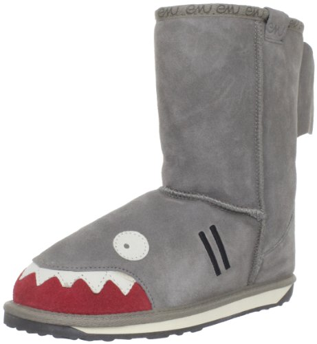EMU Australia Little Creatures-Shark Snow Boot (Toddler/Little Kid/Big Kid),Putty,12 M US Little Kid