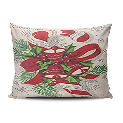SUN DANCE Fundas de almohada para el hogar, regalo de Nochevieja, casa encantada de bruja, naranja, funda de cojín de una cara, impresa Queen 50 x 76 cm