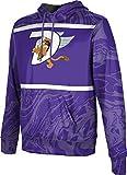 ProSphere Dutchtown High School Men's Pullover Hoodie, School Spirit Sweatshirt (Ripple) FCF71 Purple and White