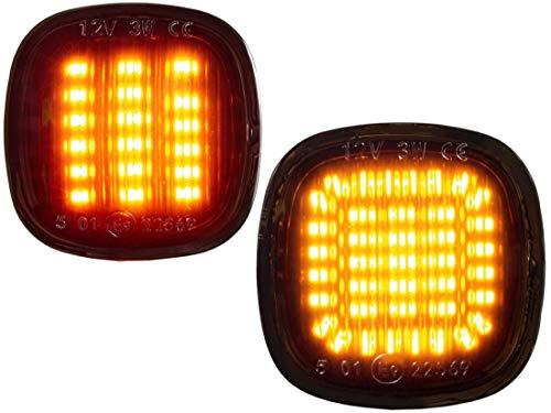 DoLED dynamische LED Seitenblinker Blinker Laufblinker Lauflicht getönt/Rauchglas kompatibel für A3 8L, A4 B5, A8 D2 | SEAT IBIZA 6K | FABIA 1 2, OCTAVIA 1, RAPID, ROOMSTER