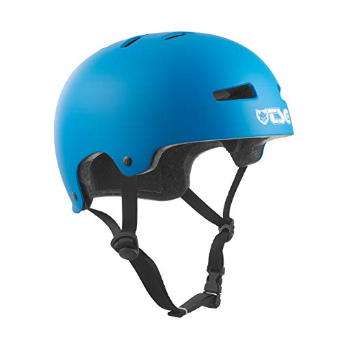 TSG Kinder Evolution Youth Solid Colors Helm, Satin Dark Cyan, XXS/XS