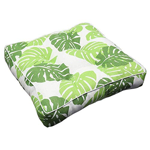 2 Pcs Printed Chair Cushion Square Seat Pad, Soft Breathable Back Cushion 3D Style for Office Dining Classroom Auto Garden Outdoor, 40 x 40 cm,H
