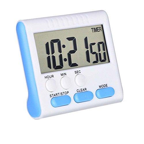 Temporizador de Cocina Digital Magnético con Soporte y Pantalla Grande (Blanco-azul)