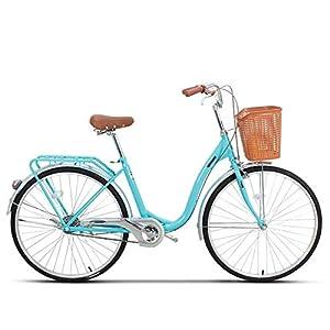 Ti-Fa Bicicleta de Paseo para Mujer, Bici de Paseo 20/24/26