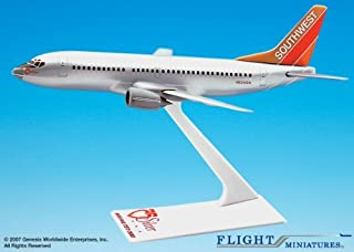 Flight Miniatures Southwest Airlines SWA Silver One Boeing 737 300 1:200 Scale Display Model w/Stand