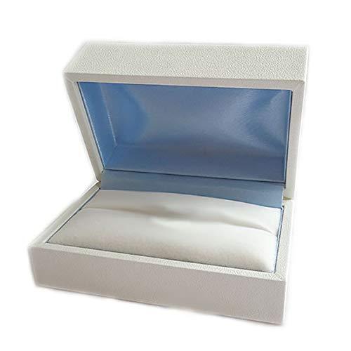 ペアリングケース ペア2本用 ジュエリーケース 白 青 記念日 アニバーサリー 結婚指輪 贈り物 プレゼントに ジュエリーボックス