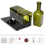 HALOViE Taglia Bottiglie, Glass Bottle Cutter in Acciaio Inossidabile DIY Strumento Tagliavetro per Vetrate Bottiglia di Vino Fioriere Bottiglie Lampade Bottiglie Portacandele
