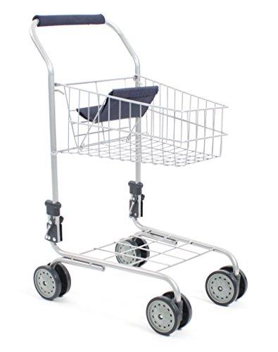 Bayer Chic 2000 760 50 Einkaufswagen aus Metall mit integriertem Puppensitz, tolle Ergänzung zum Kaufladen