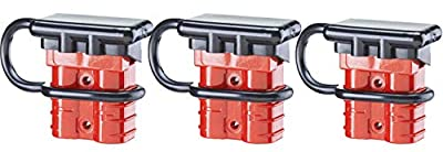 QiXin Universal 2-4 Gauge 175A Battery Cable AWG 1/0 Quick Connect Disconnect Wire Harness Plug Kit Recovery Winch Auto Car Trailer Driver Electrical Devices red 6 Pcs