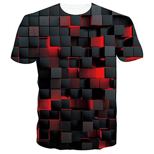 SunFocus T Shirt Uomo Grafica 3D Magliette Manica Corta Casual Girocollo Stampa Personalizzata Maglietta per L'Estate M