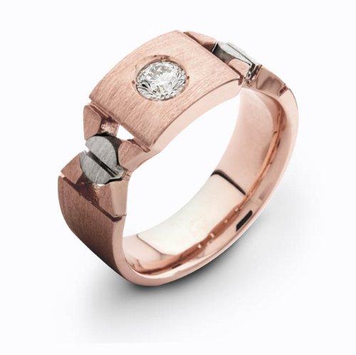 Men's Milwaukee Mall 18 karat rose gold 0.30 diamond band TCW wedding specialty shop