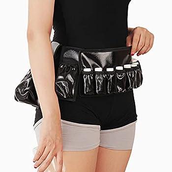 Adjustable Massage Oil/Lotion Holster Carrier Oil essential oil bottle belt massage belt holds 1pc 8oz,1pc 115ml 10 vials   black waterproof