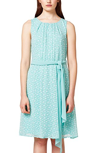 ESPRIT Collection Damen 028EO1E019 Partykleid, Grün (Aqua Green 380), 40