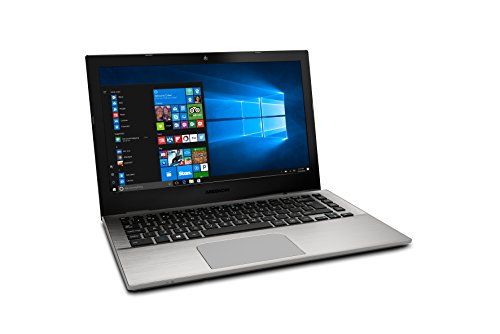 MEDION AKOYA S3409 - MD 61004 - Ordenador portátil de 13.3' FHD (Intel Core i7-7500U, RAM de 8 GB, SSD de 256 GB, Intel HD Graphics, Windows 10), plata
