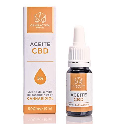 Aceite de CBD - Aceite de semilla de cáñamo rico en Cannabidiol - (10ml, 5% Cannabidiol)
