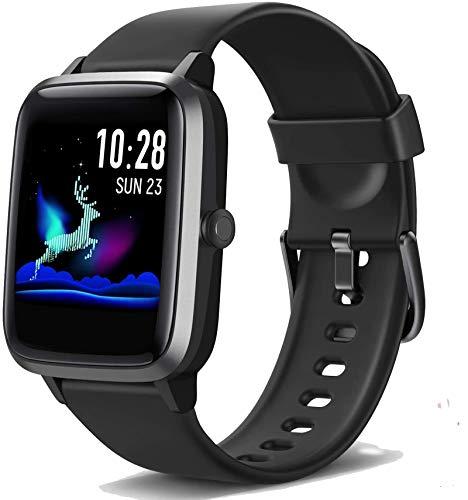 Smartwatch, Fitness Watch Kinder Armband Tracker Touch Screen IP68 Wasserdicht Schrittzähler Uhr Damen Herren Aktivitätstracker mit Pulsuhren, GPS Armbanduhr Sportuhr Smart Watch für iOS Android