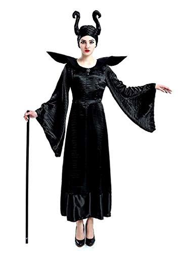 EVRYLON Schlechtes Hexenkostüm Boshaft Dornröschen Frau Mädchen Verkleidung Karneval Accessoires Größe M Geschenkidee für Weihnachten und Geburtstag Maleficent Halloween