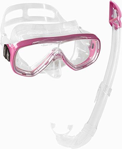 Cressi Unisex-Erwachsene Onda Mare Schnorchelset Tauchset Taucherbrille, Transparent/Rosa, Einheitsgröße