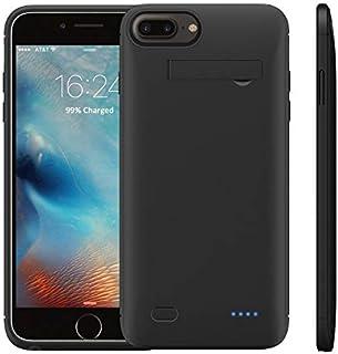 WELUV iPhone 6 6S 7 8 対応 バッテリーケース 充電ケース 4000mAh スマホスタンド付け 内蔵ケース ケース型バッテリー 超薄型チャージケース パワーバンクブ ラック