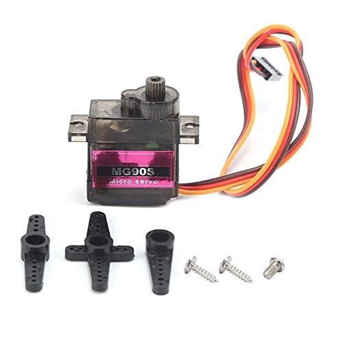 Eosnow Mini servo Digital RC, Kit de servomotor de par de Engranajes de Metal, máquina servo de dirección de Alta Velocidad Estable a Prueba de Golpes, para Coche RC, orugas, Bricolaje