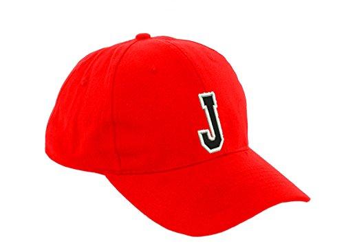 Gorra de béisbol infantil, diseño con letras, unisex, color rojo multicolor J...