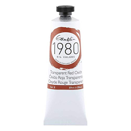 Gamblin Trans Red Oxide 1980 Oil 37Ml, 37 ml