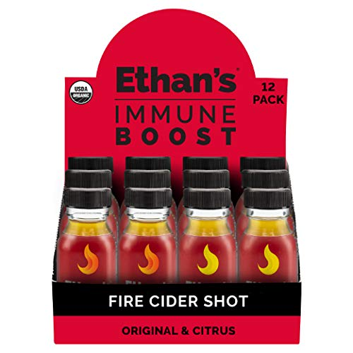 Ethan's Immune Boost Shot, Includes Original Fire Cider & Citrus Fire Cider Formula, Immune Support, Organic Apple Cider Vinegar Shots, ACV Supplement, Digestion Supplement (Variety 12pk of 2oz Shots)