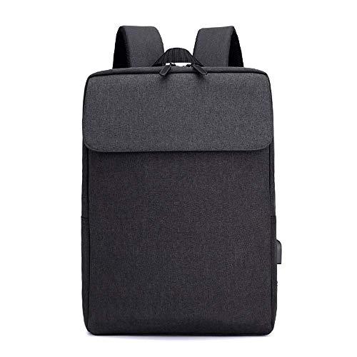 Thumby Outdoor-rugzak, duurzaam, multifunctioneel, voor laptop, 39,6 cm (15,6 inch), heren, USB-oplaadkabel, solide kleuren voor jongeren, mode, rugzak 25L  Blanco Y Gris