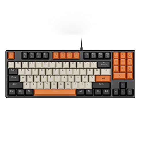Havit 89キー ゲーミングキーボード 赤軸 メカニカル キーボード 有線 PBTキーキャップ US Layout KB487L-US