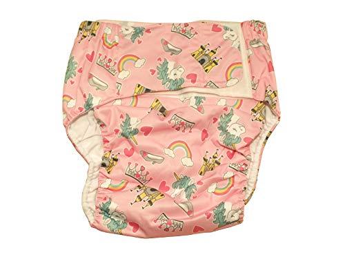Stoffwindel Wasserdicht PUL Princess Pink inkl. Saugeinlage für Erwachsene Teenager ABDL Inkontinenz Windel Schutzhose