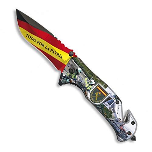 LGP Albainox – 18221-A- H 8,2 cm. Civil Schutzmesser mit 3D-Druck, Werkzeug für Jagd, Angeln, Camping, Outdoor, Survival und Bushcraft