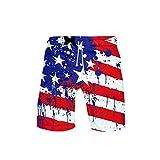 Skull Eagle USA Flag 3D Board Shorts Bañadores Summer Beach Swim Shorts 3D Shorts3 S