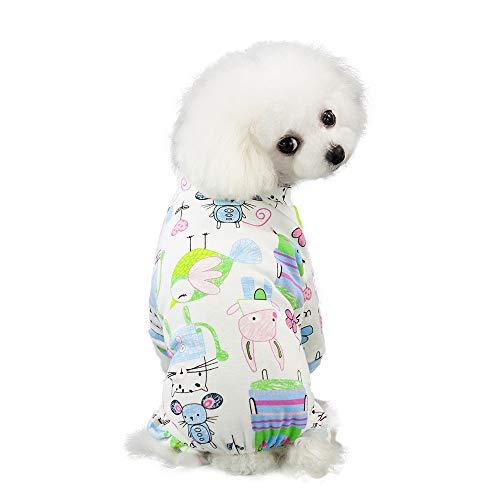 Brizz Katoenen poloshirt voor kleine honden, kat, schattig eenkleurig, zacht, comfortabel, voor de zomer, Small, blauw