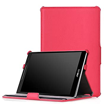 MoKo ASUS ZenPad S 8.0 Z580C/Z580CA Case - Ultra Compact Slim Fit Multi-Angle Premium Folio Cover Case with Auto Wake/Sleep for 2015 Release ASUS ZenPad S 8 Z580C / Z580CA 8  Tablet RED