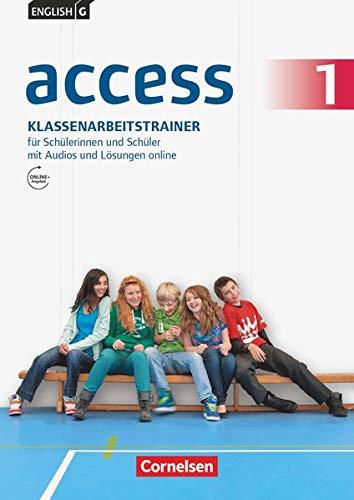 English G Access - Allgemeine Ausgabe / Band 1: 5. Schuljahr - Klassenarbeitstrainer mit Audio-Materialien, Lösungen und Lerntipps: Klassenarbeitstrainer mit Audios und Lösungen online