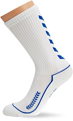 hummel Kinder Advanced long Indoor Socke, weiss / blau, 32 - 35 ( 8 ), 21-059, 9368