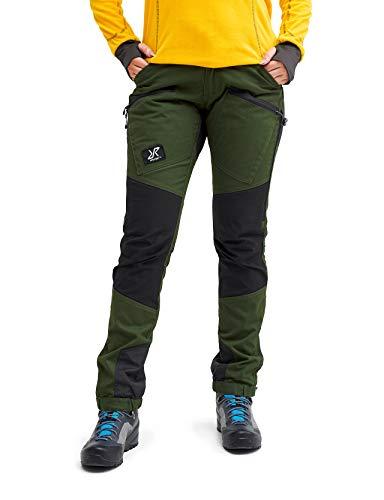 RevolutionRace Damen Nordwand Pro Pants, Hose zum Wandern und für viele Outdoor-Aktivitäten, Forest Green, 36