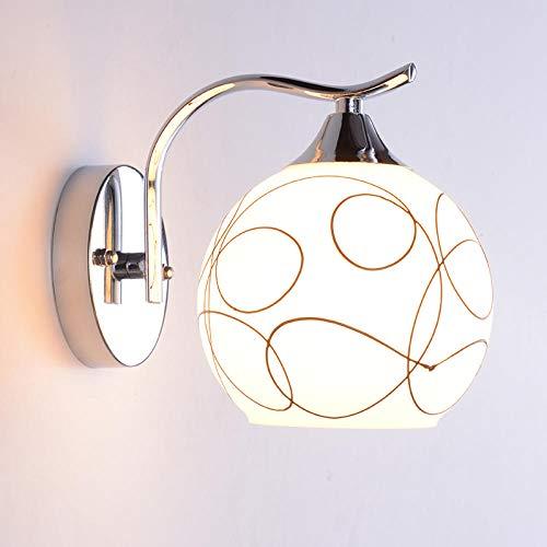 Modern bedlampje slaapkamer dubbele kop eenvoudige wandlamp met open snoerschakelaar
