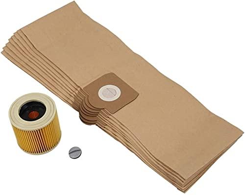 Herramientas de limpieza de repuesto bolsas de filtro para Karcher WD3 WD 3.300 M WD 3.200 WD3.500 SE 4001 SE 4002 WD3 P 6.959-130 filtro de bolsa (color amarillo) (color: amarillo)
