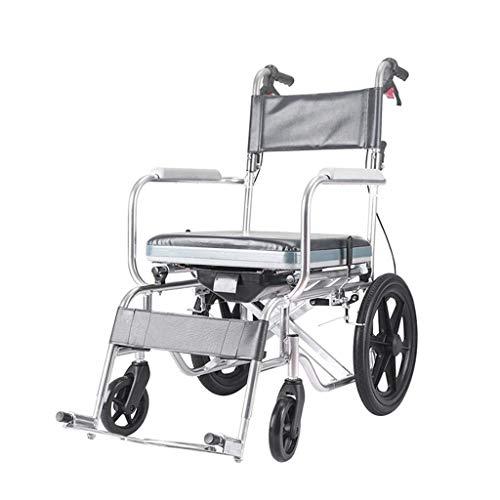 Inicio Accesorios Ancianos Discapacitados Carro de transporte para adultos Silla de baño para ducha Deportes Slight Boost in Thrust Silla de cuidado Portátil médico plegable con freno en la mano Ne