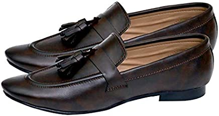 HushBerry Men's Ethnic Luxury Coffee Brown Synthetic Casual Shoes (11)