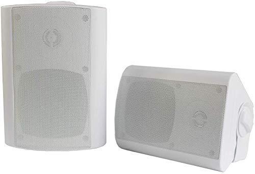 Herdio Altavoces Bluetooth para interiores y exteriores de 4 pulgadas Altavoces impermeables...