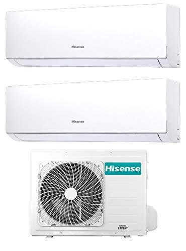 Climatizzatore Dual Split 9000 + 12000 Btu, Inverter, A++/A+, Gas R32, Serie New Comfort