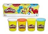Hasbro European Trading B.V. B5517EU4 - Play-Doh Knete, Spiele und Puzzles, 4er Pack, Fablich Sortiert