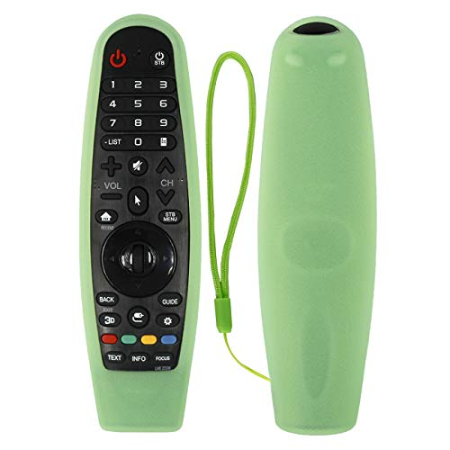 CHUNGHOP Protective Silicone Remote Case for LG AN-MR600 AN-MR650 AN-MR18BA AN-MR19BA AN-MR20GA Magic Remote Cover Remote Holder for LG 3D Smart TV Magic Remote Case (Glow in Dark Green)