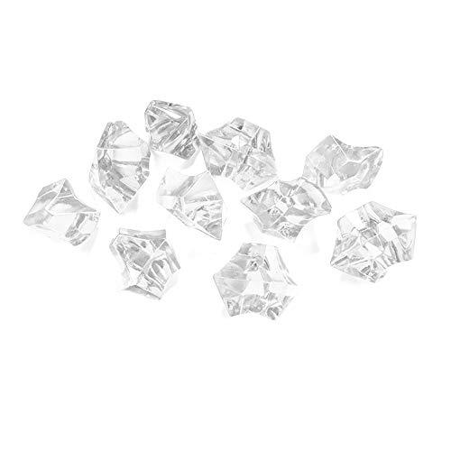 PartyDeco AC25-099-KARTON Eiskristalle, PVC, transparent, 50 Stück