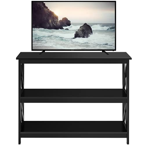 YAHEETECH Television Stands & Entertainment Centers with 3 Tier Storage Shelf TV Stand for Living Room