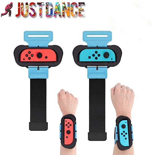 2 Pack Armband für Nintendo Switch Joy Con Controller Kompatibel mit Just Dance 2020 2019 Verstellbarer elastischer Gurt mit Position für links und rechts Joy Cons