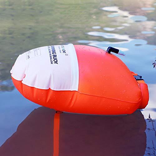 aheadad - Flotador de natación con bolsa seca, hinchable, multifuncional, de buena visibilidad para los amantes de los deportes náuticos, rafting, natación, senderismo, escalada, 20 l